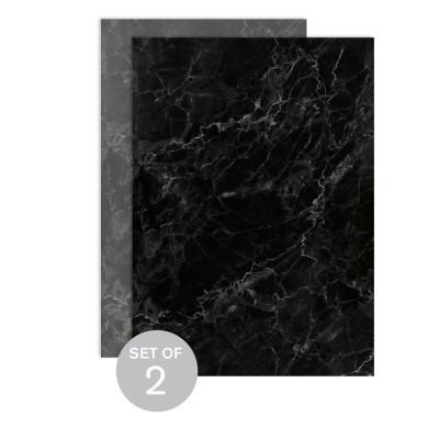 Black Marble (Set of 2)