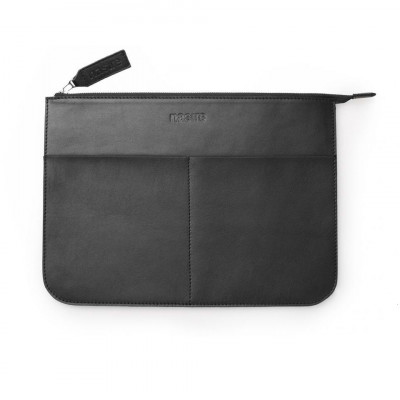 Laptop Sleeve | Black Smooth Leather
