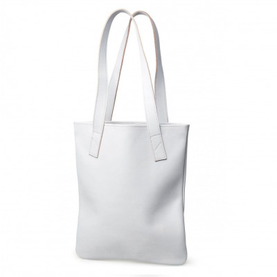 Tote | Light Grey Smooth Leather