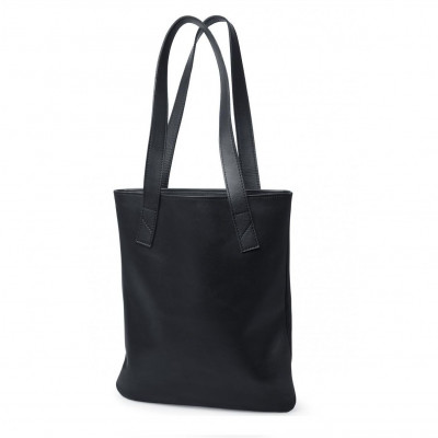 Tote | Black Smooth Leather