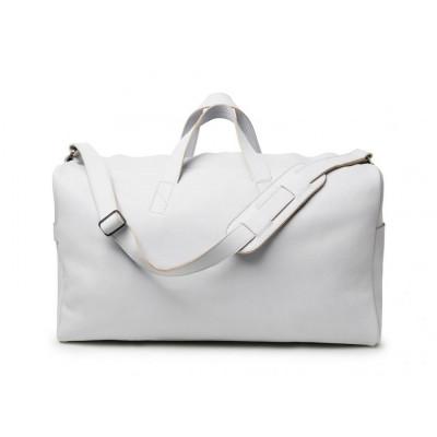 Weekender Bag | Light Grey Smooth Leather