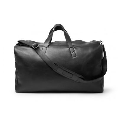 Weekender Bag | Black Smooth Leather