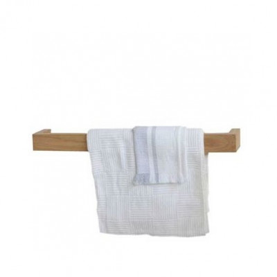 Einzelner Handtuchhalter Slimline 60 cm | Helles Holz