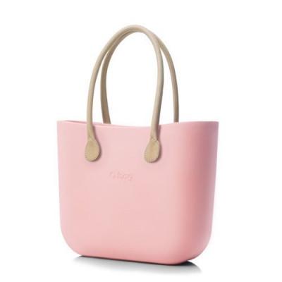 O Tasche natürliche Ledergriffe   Pink