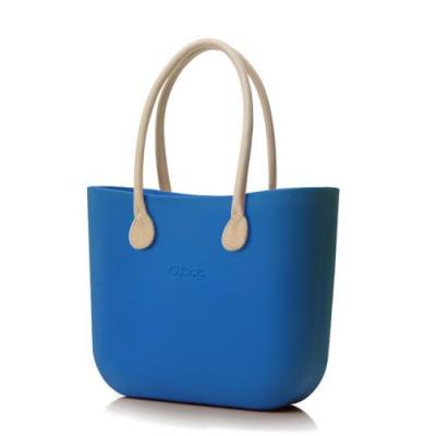 O Tasche Naturleder Griffe   Signal blau