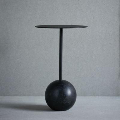 Knock-out-Tisch Runde   Schwarzer Marmor
