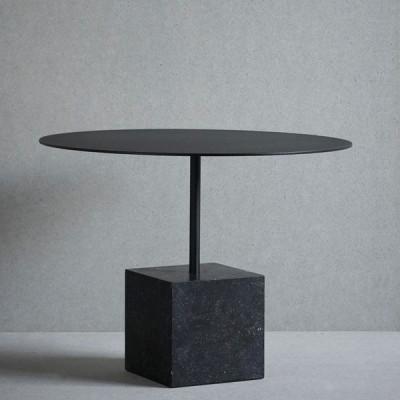 Knock Out Tisch Quadrat   Schwarzer Marmor