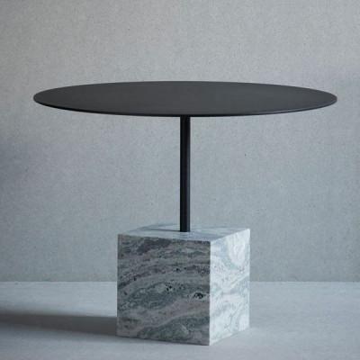 Knock Out Tisch Quadrat   Grüner Marmor