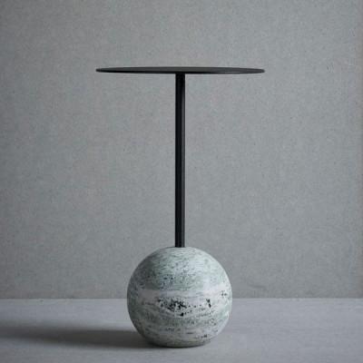 Knock-out-Tisch Runde   Grüner Marmor