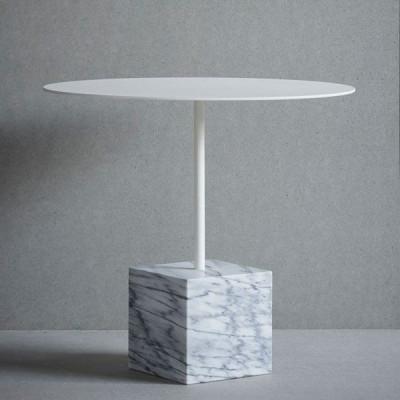 Tisch quadratisch   Weißer Marmor