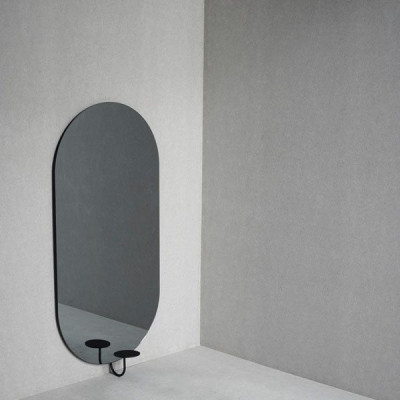 Miró Miró-Spiegel   Oval Vertikal   Grey Mist