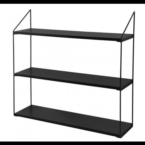Wall Rack 3 Shelves   Black