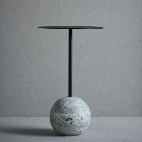 Knock Out Table Round | Green Marble