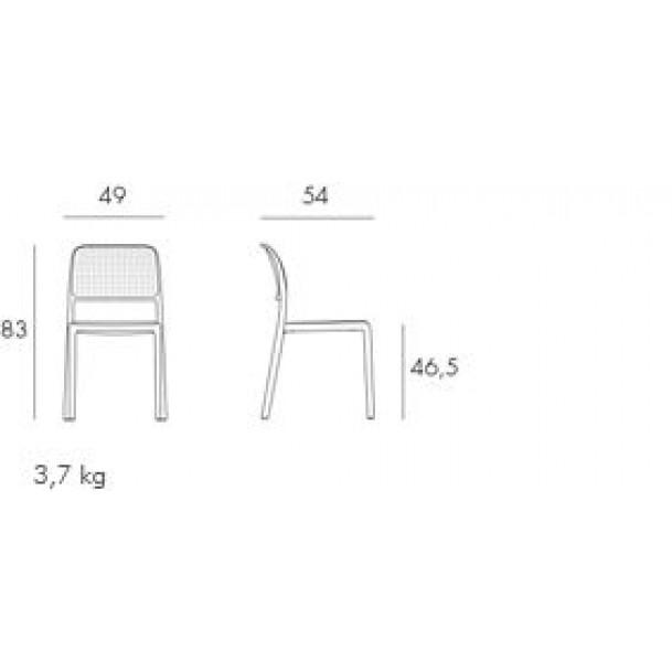 Stapelbarer Stuhl Bora Bistrot | Orange