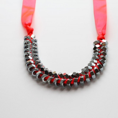 Necklace Neon Pink