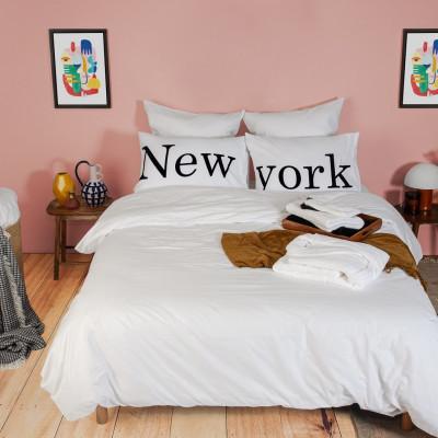 2er-Set Kissenbezüge & Bettbezug   New York
