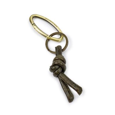 Schlüsselanhänger | Leder | Olive