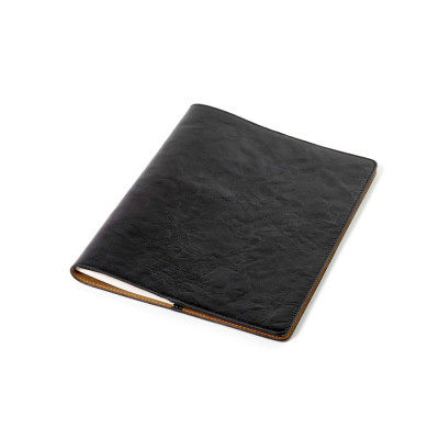 A4 Notizbuch Umschlag | Leder | Schwarz