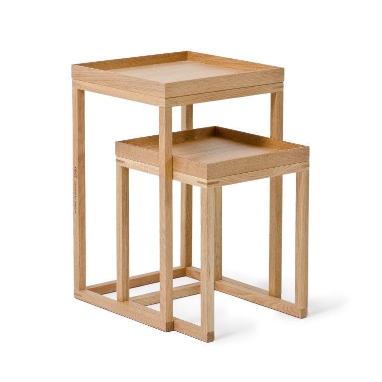 Side Tables Nest Set of 2 | Oak
