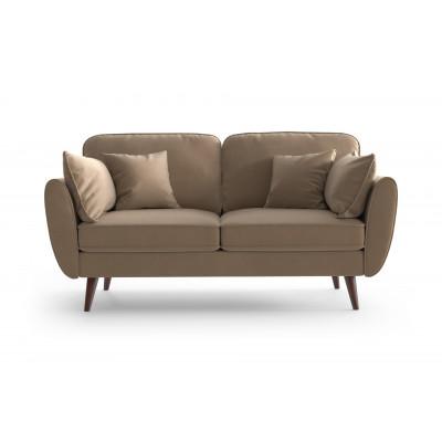 2 Sitzer Sofa Auteuil Samt | Karamell
