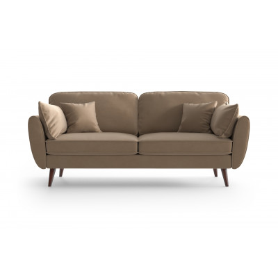 3 Sitzer Sofa Auteuil Samt | Karamell