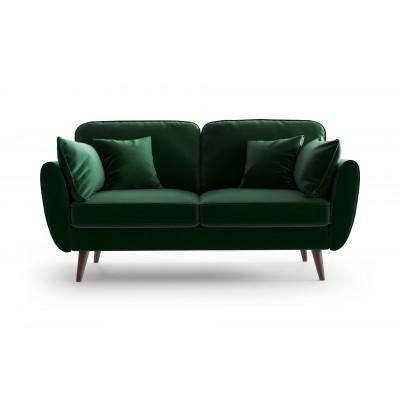 2 Sitzer Sofa Auteuil Samt | Grün