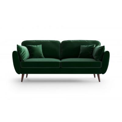 3 Sitzer Sofa Auteuil Samt  | Grün
