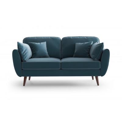 2 Sitzer Sofa Auteuil Samt | Blau