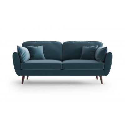 3 Sitzer Sofa Auteuil Samt  | Blau