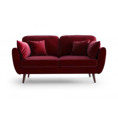 2 Sitzer Sofa Auteuil Samt | Rot