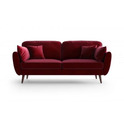 3 Sitzer Sofa Auteuil Samt | Rot