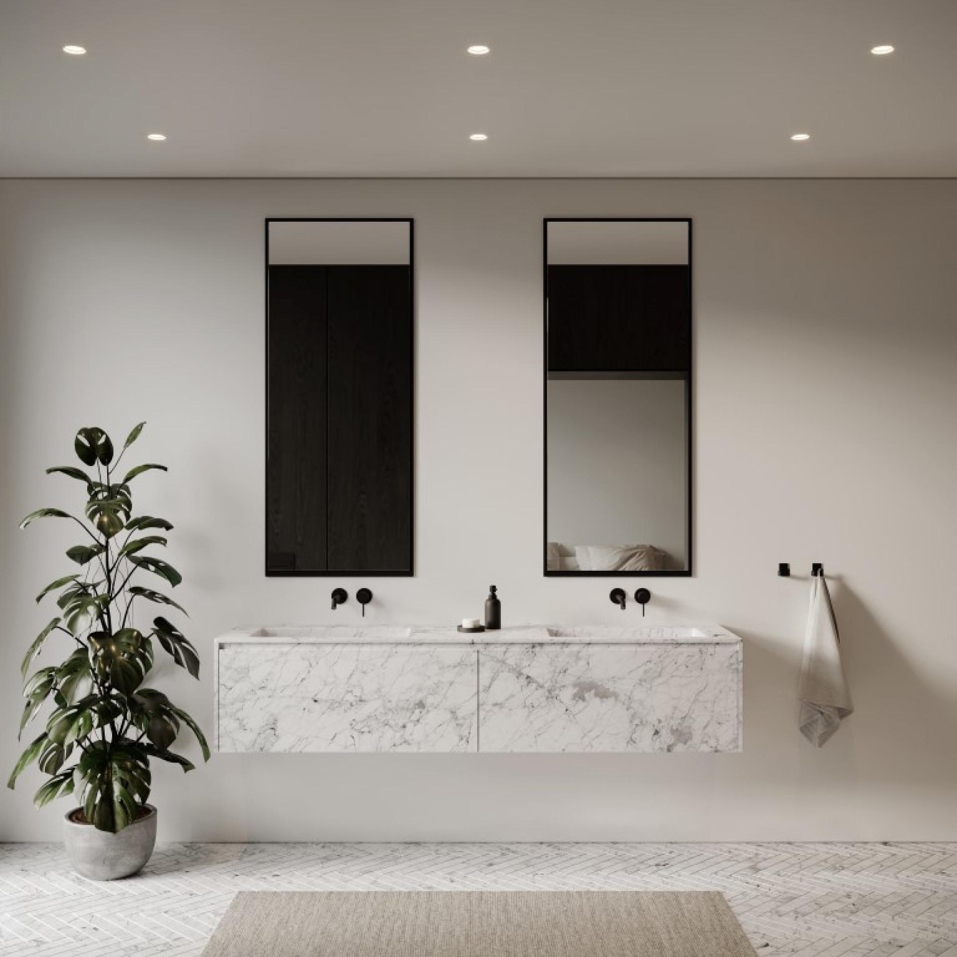 Spiegel Groß 145 x 60 cm   Schwarz