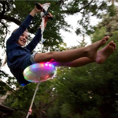 Slackers Zipline 100' Night Riderz mit LED-Sitz