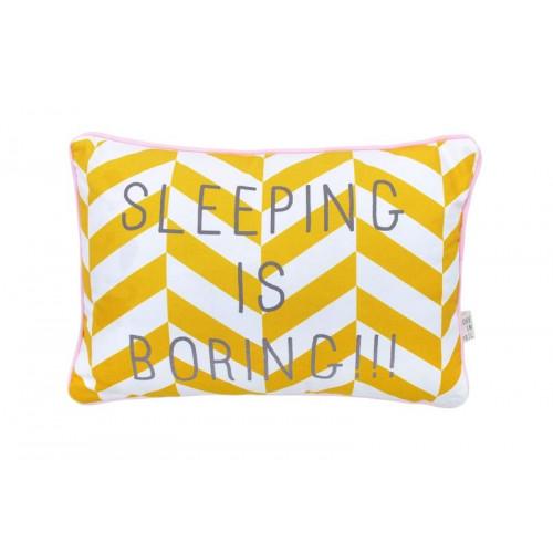 Boodschap Kussen | Sleeping Is Boring