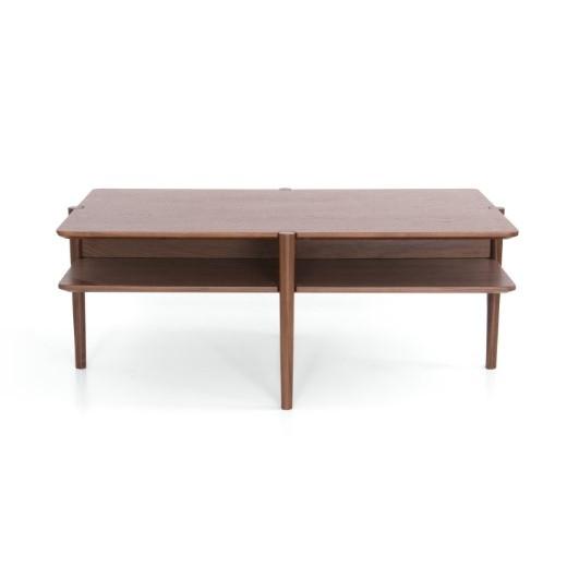 Coffee Table Nivel   Walnut Wood   100 x 60 cm