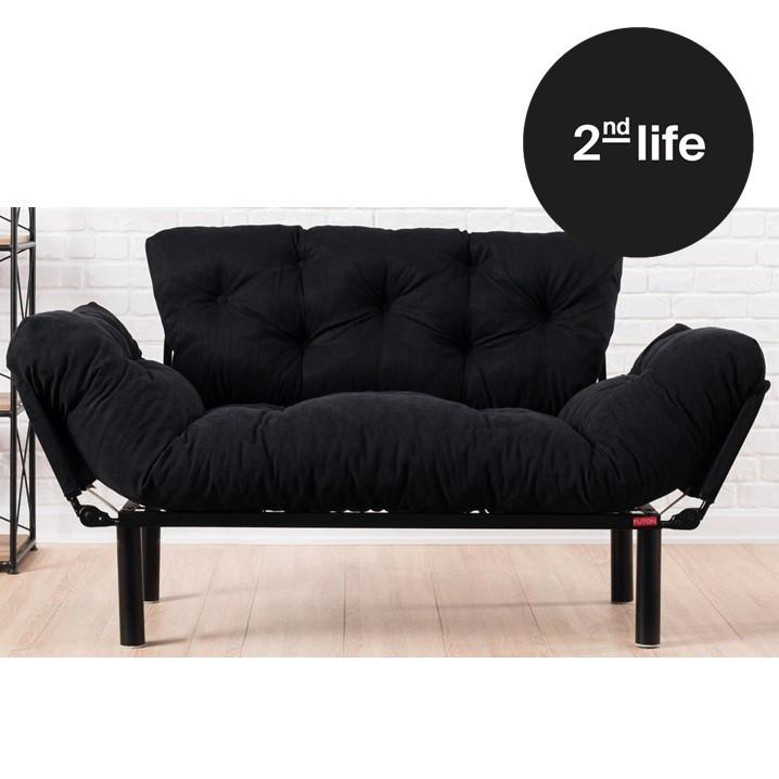 2nd Life | 2 Seater Sofa Bed Nitta | Black