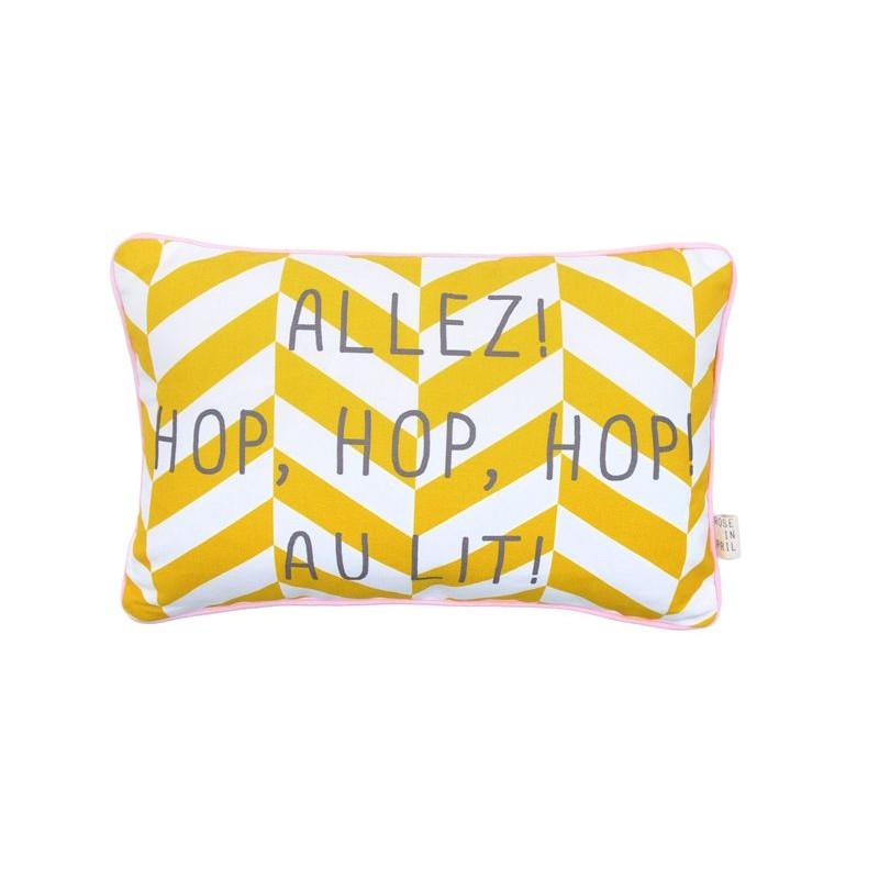 Boodschap Kussen | Allez Hop Hop Au Lit