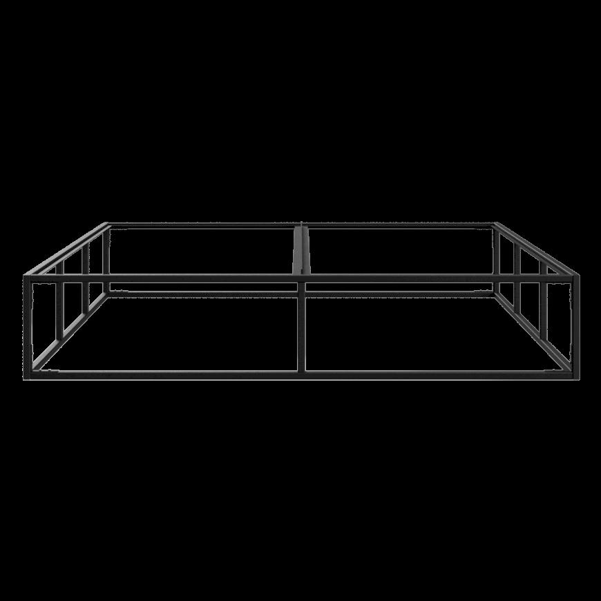 Bettrahmen 160 x 200 cm   Schwarz