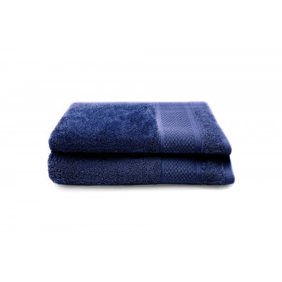 Set of 2 Bath Towels Gigi 50x100 cm | Denim