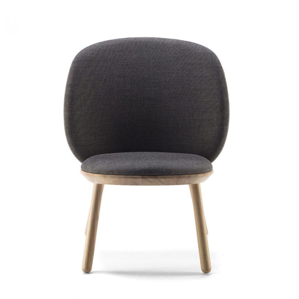 Low Chair Naïve | Grey Kvadrat Fabric