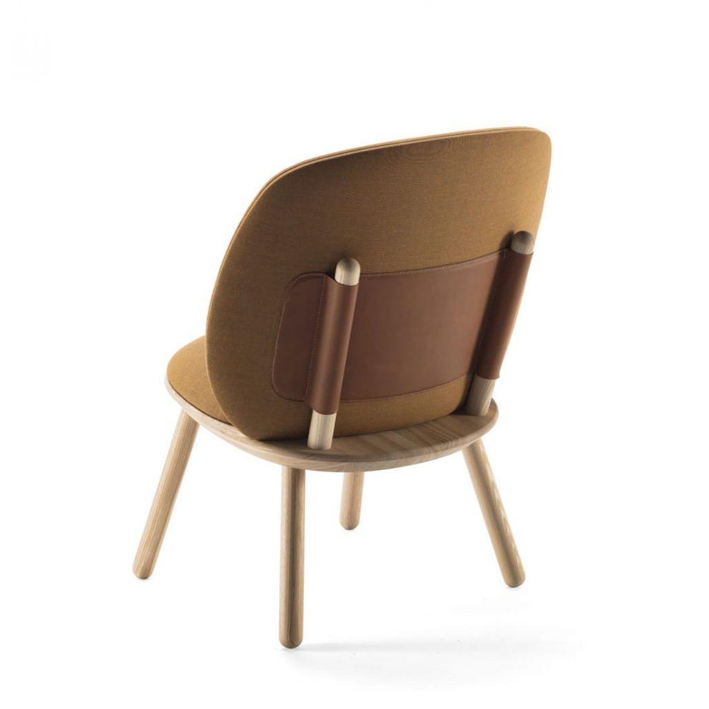 Niedriger Stuhl Naive | Gelber Kvadrat-Stoff