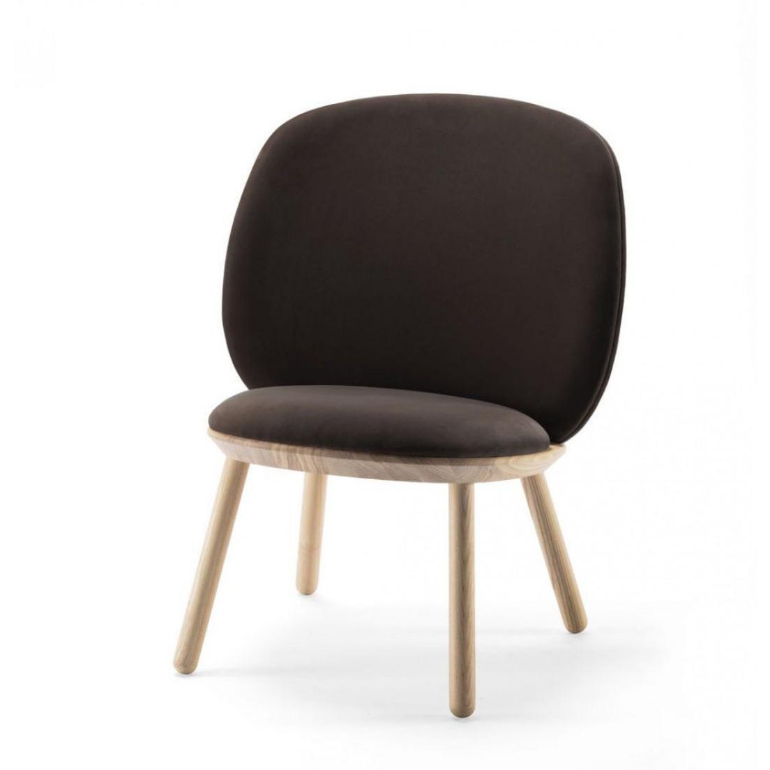 Niedriger Stuhl Naive | Brauner Velours