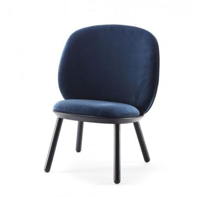 Niedriger Stuhl Naive | Blauer Velours