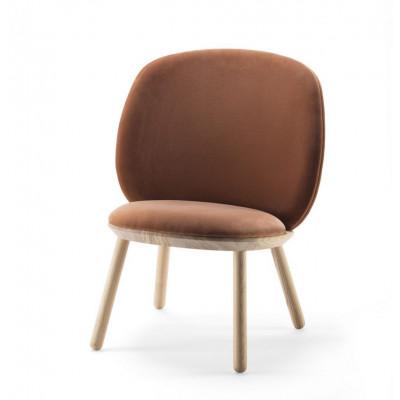 Niedriger Stuhl Naive | Terrakotta-Velours
