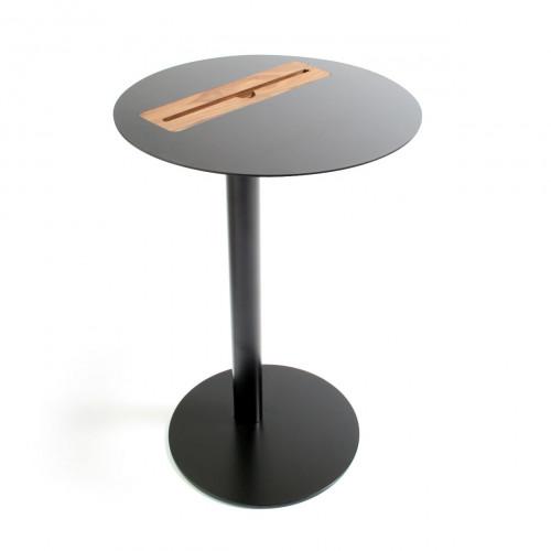 Nomad Tablet Side Table Round- Black