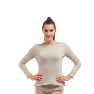 Pullover mit langen Ärmeln für Frauen | Beige