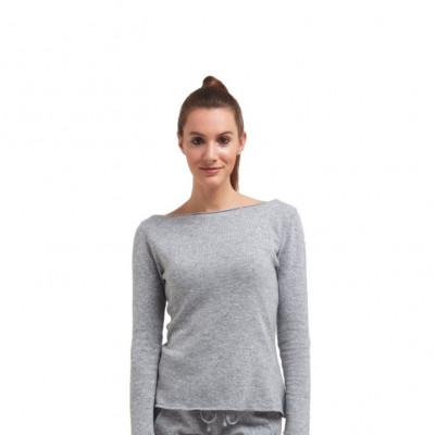 Pullover mit langen Ärmeln für Frauen | Medium Grau