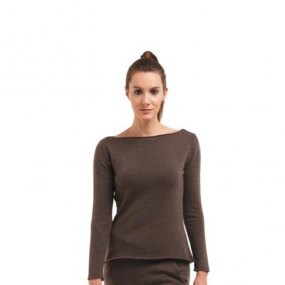 Pullover mit langen Ärmeln für Frauen | Dunkelbraun