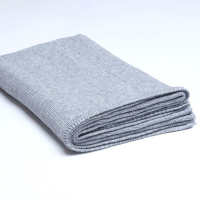Überwurf Rippstrick | Medium Grau