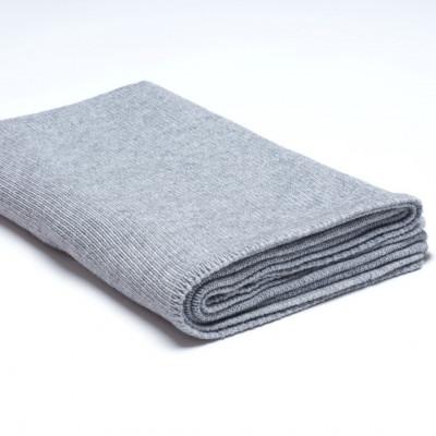 Überwurf Wollstrick | Medium Grau